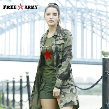 Freearmy Long Sleeve Blouse Shirts Women Casual Turn Down Collar Camo Woman Blouses 2018 Women's Shirt Plus Size Top Female nicemix 2019 jeans painting blouses female long sleeve turn down collar shirts spring autumn casual loose women blouse shirts