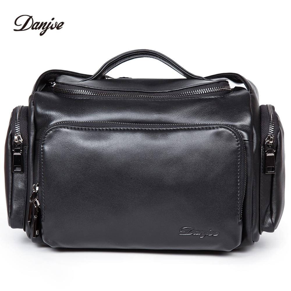 купить DANJUE Brand Mens Small Shoulder Bag High Quality Genuine Leather Fashion Business Men's Handbag Trendy Travel Messenger Bags по цене 5643.11 рублей