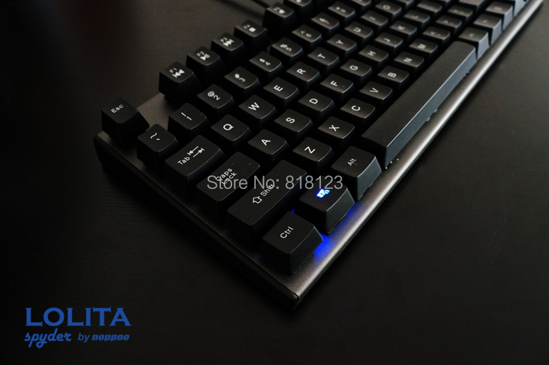 TKL tenkeyless Noppoo Spyder Lolita 87 mechanical keyboard ABS keycap kailh mx brown red switches frameless gaming keyboard luxury brand naviforce men sport watches waterproof led quartz clock male fashion leather military wrist watch relogio masculino
