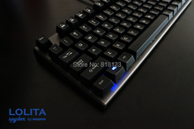TKL tenkeyless Noppoo Spyder Lolita 87 mechanical keyboard ABS keycap kailh mx brown red switches frameless