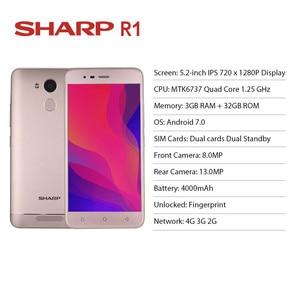 """Image 2 - شارب R1 MT6737 رباعية النواة 3GB RAM 32GB ROM الهاتف المحمول 5.2 """"1280x720 P 16:9 نسبة بطارية الهاتف الذكي 4000mAh أندرويد الهاتف المحمول"""