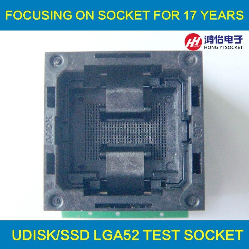 ộ_ộ ༽Flash programador adaptador LGA52 a DIP48 IC socket de prueba ...