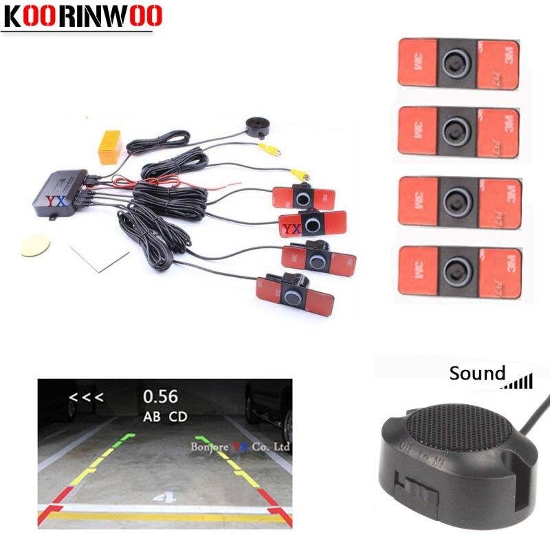 Parktronic Koorinwoo Original 16.5mm Duplo CPU Sensor de Estacionamento Vídeo 4 Sysem cego Sondas Sistema Detector Reversa Universal