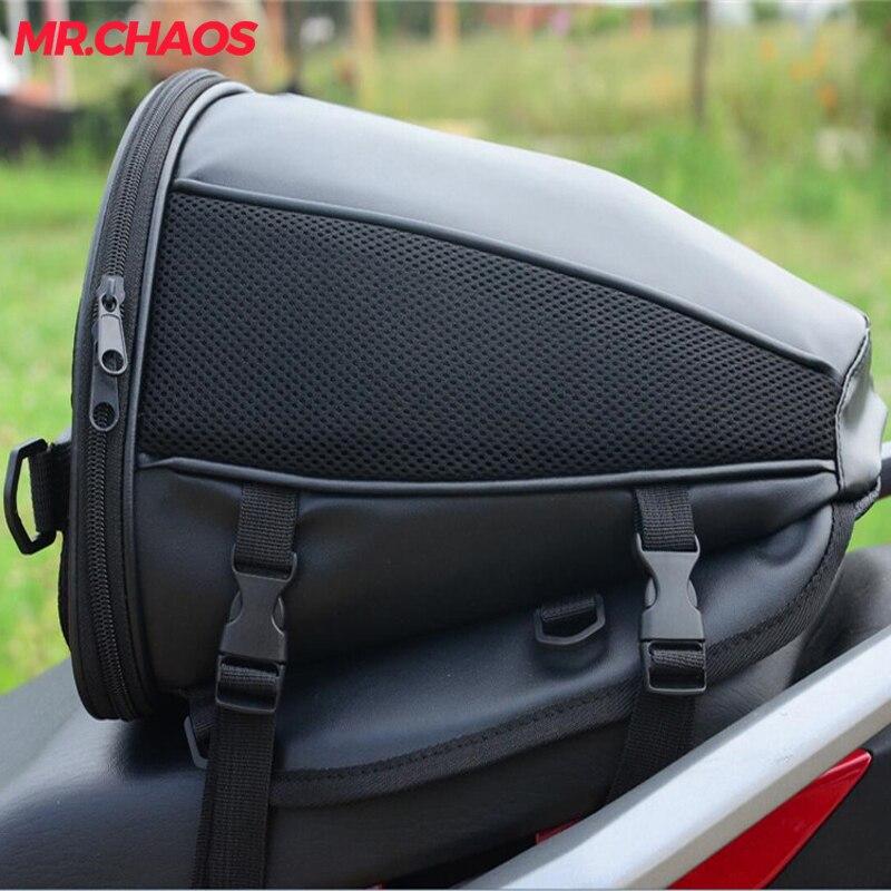 Motorcycle Tail Tank Bag Motorbike Seat Back Bag Saddle Bag Rear Seat Package