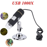 Portable Digital USB Microscope 1000X 8 LED Microscope Endoscope Camera Magnifier Stand Calibration Ruler Biological Microscope
