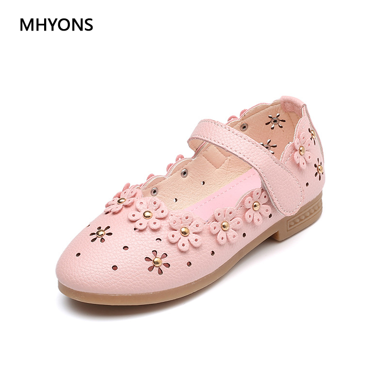 2018 summer baby girl sandals bow childrens shoes synthetic PU leather childrens shoes sandals princess girl shoes Hook-Loop