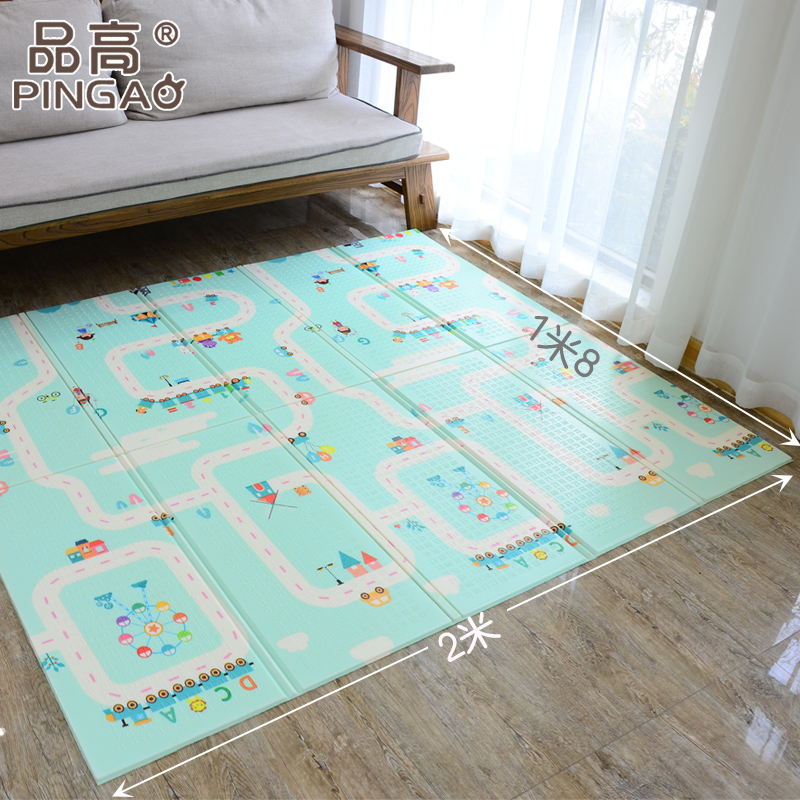 Baby Crawling Pad Thickening Living Room Foldable And Tasteless Splicing Of Children's Ground Double Faced Pattern