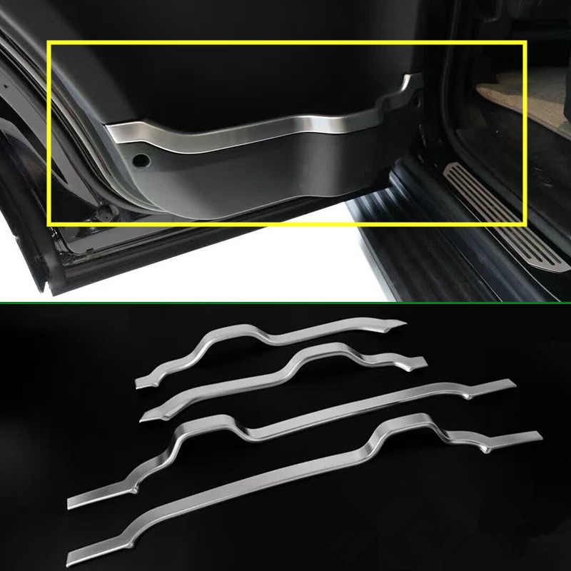 For Land Rover LR4 Discovery 4 Inner Car Door Decorative Cover Trim 2010-2015 4pcs 2pcs abs car interior accessories center control side strip cover trim for land rover lr4 discovery 4 2013 2016 car styling