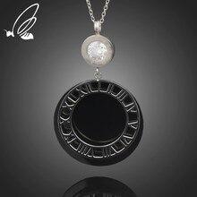 купить S'Steel Fashion Luxury Gold Roman Numerals Long Necklace Pendant for Women Girl High Polish 316 L Stainless Steel Jewelry дешево