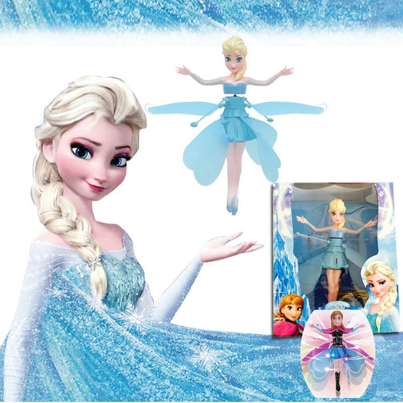 Original-Cheap-Plastic-Boneca-Princesa-Fly-Fairy-Elsa-Anna-Infrared-Induction-Remote-Control-Doll-For-Girl