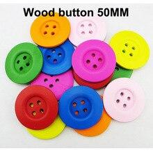 8 шт. 50 мм Смешанная живопись цвет древесины деревянные пуговицы сапоги пальто швейная одежда аксессуар одежды пуговицы MCB-889n
