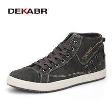 DEKABR Marke Männer Leinwand Schuhe Mode-Trend Retro Breathable Männer Casual Ankle Schuhe Lace Up British Designer Student Schuhe Männer