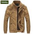 TAWILL Men куртка военная армия солдат хлопок Air force one мужской Бренд одежды Весна Осень Мужские куртки Плюс размер 4XL 9931