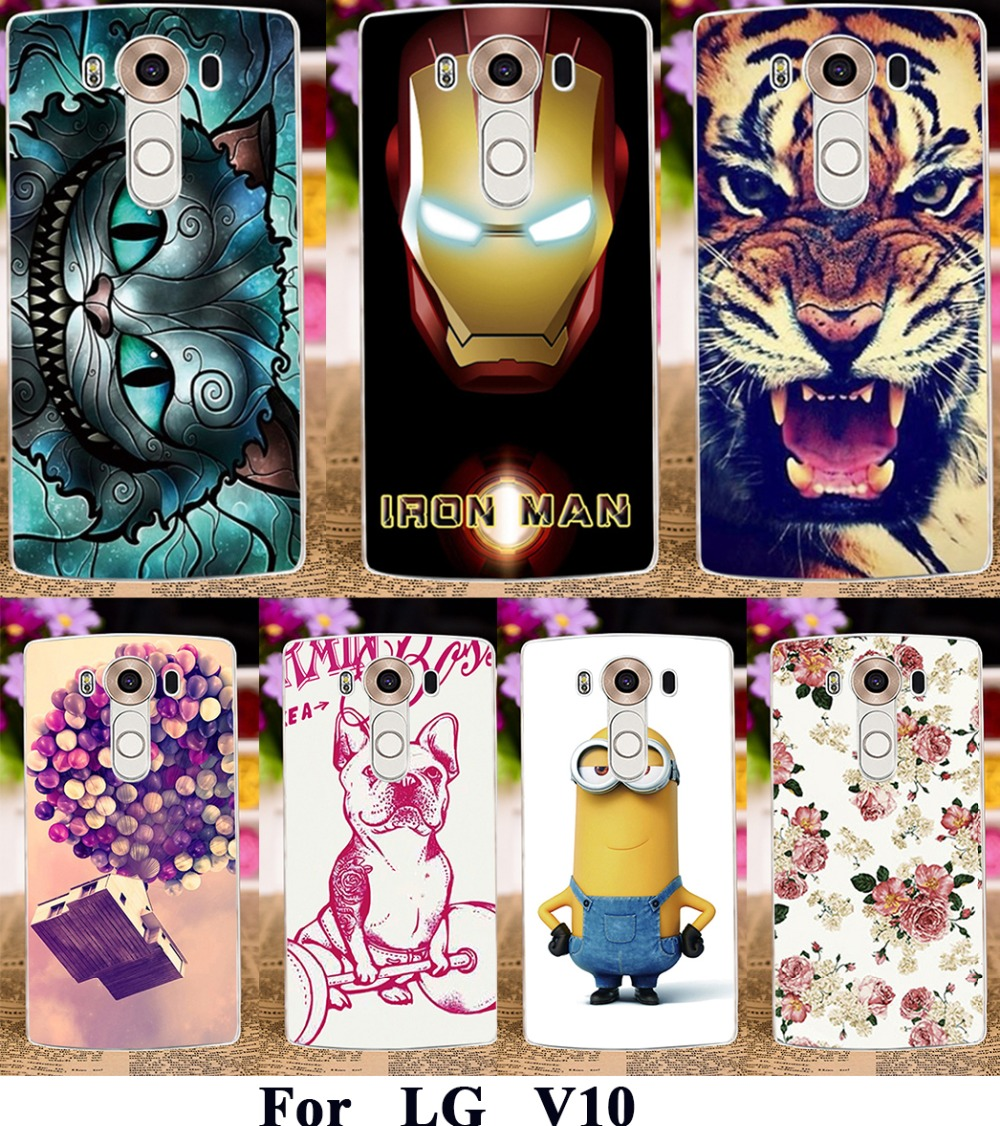 AKABEILA Soft Silicon TPU Or Plastic PhoneCases For LG V10 F600 H900 Dual SIM G4 Pro H961N LTE 4G Cases Bag Paint Back Covers