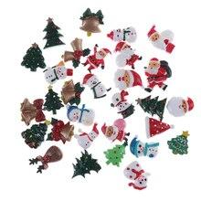 10 шт. Мини Рождественская елка Санта Клаус Снеговик колокольчик детская игрушка подарок Фея Сад/Хэллоуин тыква шляпа призрак украшения мини-фигурка
