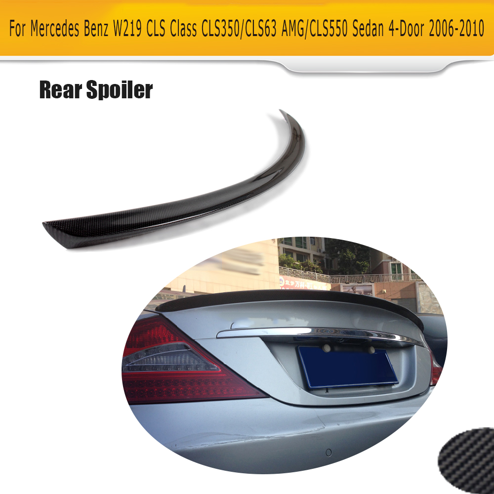 Carbon Fiber Rear Roof Window Spoiler Wing Fit for Mercedes Benz W219 CLS 06-10