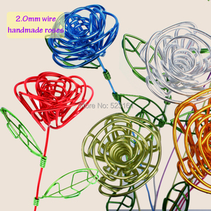 Image 3 - Bobina de alambre suave para manualidades, aluminio de colores, 55m, 180 pies, 60 yardas, 2mm, calibre 12, alambre para suministros de joyería, envío gratis