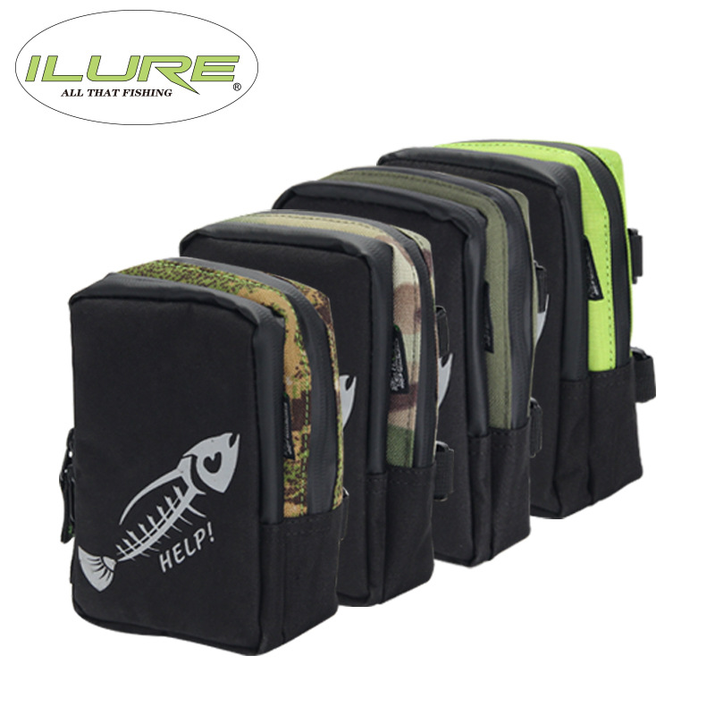 iLure waterproof multifunctional 17*12*5cm canvas bag <font><b>carp</b></font> fishing equipment roll lure bag Pesca compartment sub package