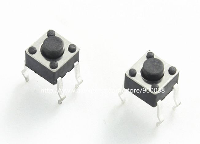 Nice 1000pcs/lot Tact Switch 4.5x4.5x3.8 Mm Right Angle Snap-in Through Hole 3 Terminal Contact Push Button Switches Rohs Reach In Many Styles Lighting Accessories