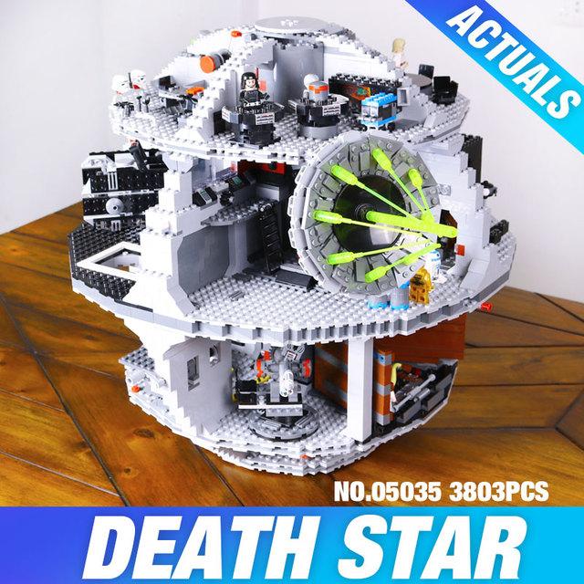 Envío Libre LEPIN 05035 Star Wars Estrella de La Muerte 3804 unids Kits de Juguetes de Bloques de Construcción Ladrillos Compatible con 10188