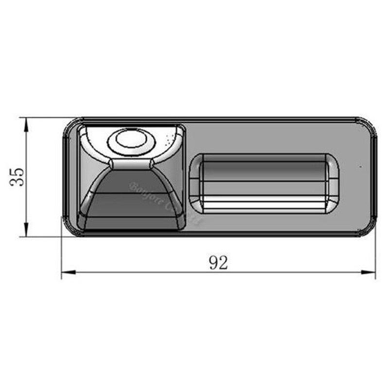 Парковочная CCD Автомобильная камера заднего вида с ручкой багажника для Skoda/Octavia/Fabia/Superb/Roomster/Yeti/Audi/A1, Автомобильная камера заднего вида с кно...
