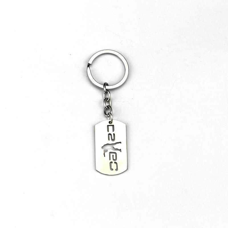 Игра csgo брелок цепочки из нержавеющей стали счетчик Strike CS GO брелок для ключей Porte Clef chaviro Carro ювелирный подарок