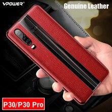 Кожаный чехол Vpower для Huawei P30 Pro, роскошный противоударный чехол из натуральной кожи с покрытием для задней панели телефона Huawei P30 / P30 Pro, чехлы