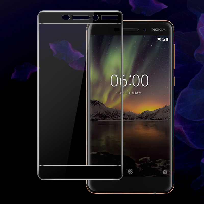 Imak Amazing 2.5D Screen Protector For Nokia 6.1 Full Cover Tempered Glass for Nokia6 2018 Dual Sim Protective Glass Film