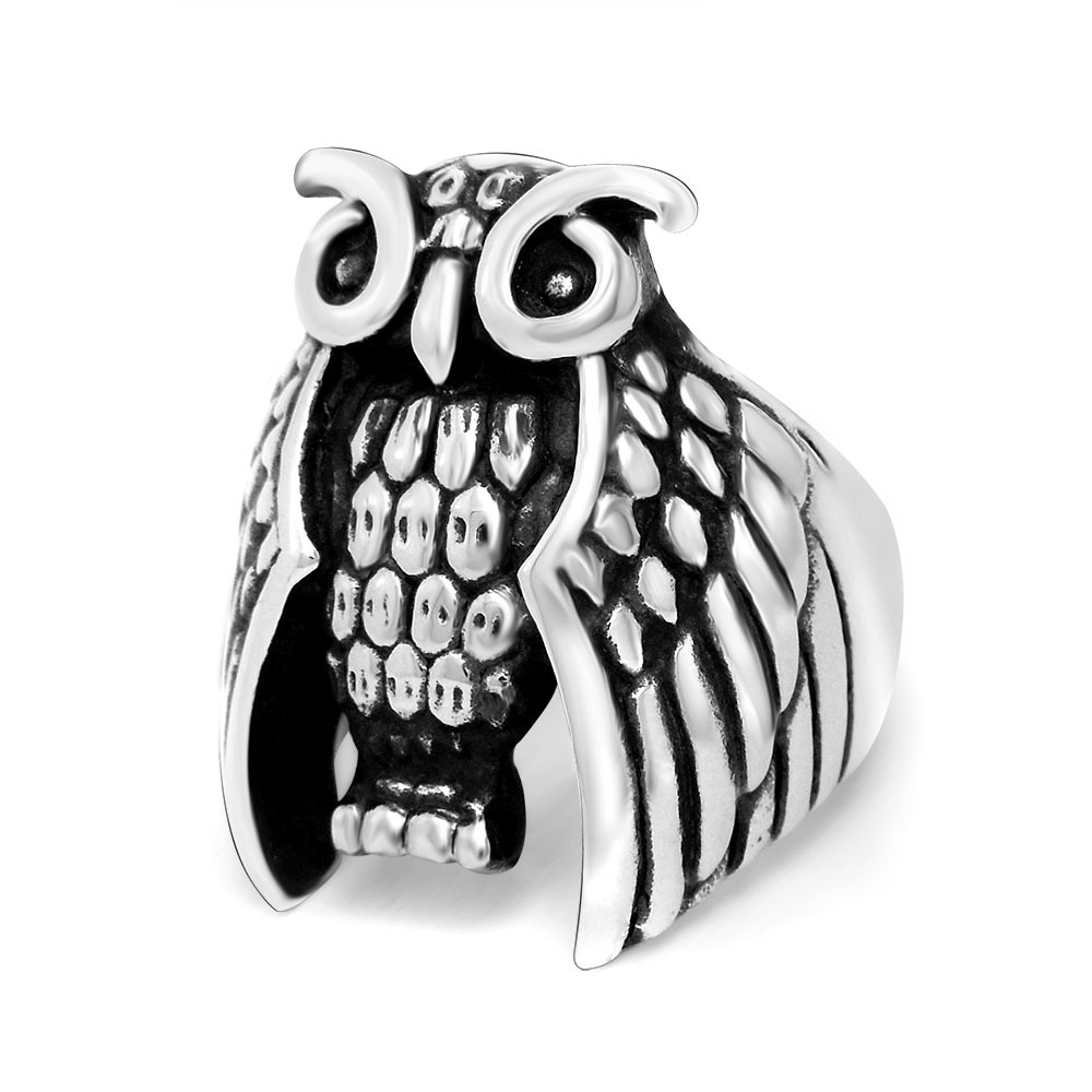 New Design Europe Classic Owl Ring High Mystery Vintage Antique Charms  Finger Ring Fashion Noble Luxury
