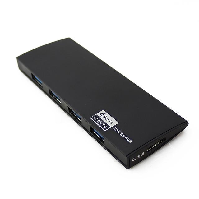 Ultra Speed 4 portas USB3.0 HUB Splitter adaptador para PC Portátil Periféricos de Computadores Portáteis Com Interface De Alimentação preto