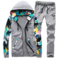 2017 Spring Hoodies Tracksuit Men Slim Fit Camouflage Designer Leisure Suits For Men Youths Lovers Sets (Asian Size)