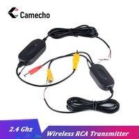 Camecho 2,4 ГГц беспроводной RCA видео передатчик и приемник комплект камера заднего вида для автомобиля монитор заднего вида FM передатчик и прие...