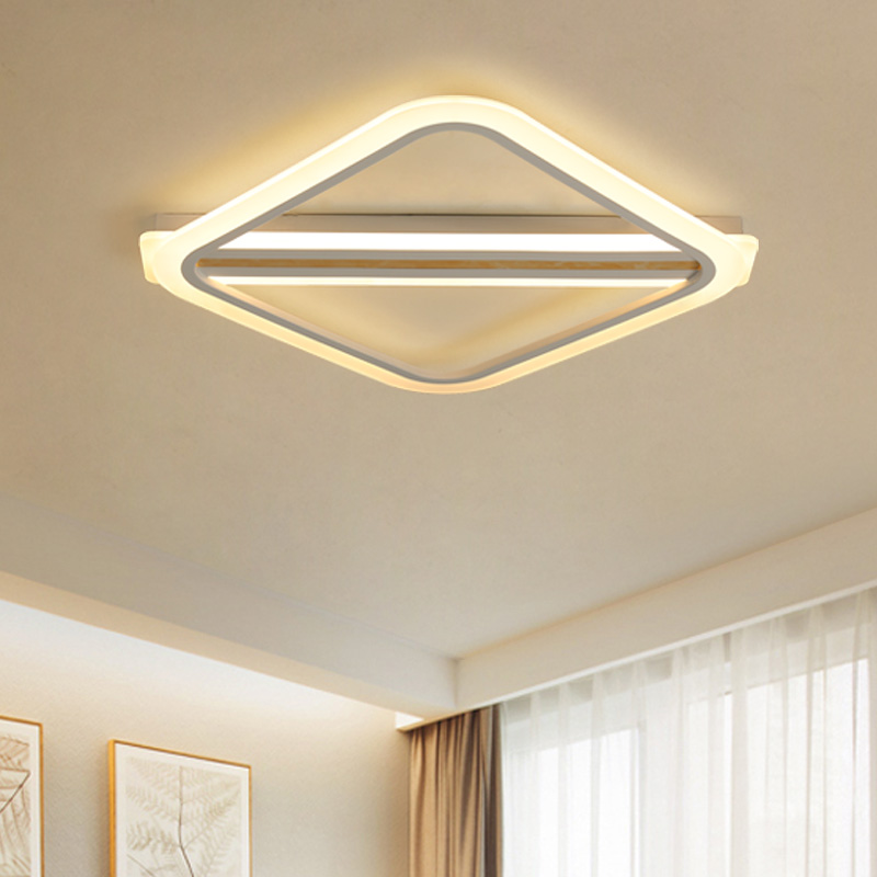 Simple square Modern LED ceiling lights for living dining room bedroom with remote control ceiling lamp fixtures deckenleuchteSimple square Modern LED ceiling lights for living dining room bedroom with remote control ceiling lamp fixtures deckenleuchte