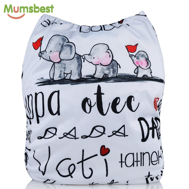 [Mumsbest] 2018 New Arrival Cloth Diapers Positioned Digital Cloth Diaper Cover Babies Washable Happy Family Cloth Nappy Pocket