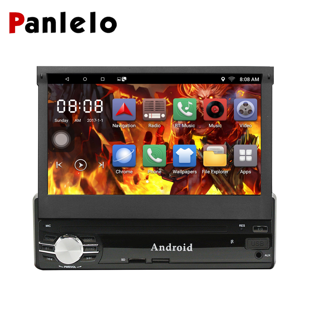 цена Panlelo 1din Android Car Radio Stereo Quad Core 6.0 1GB / 2GB RAM 7