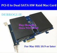 Marvell 88SE9230 High Speed Dual SATA III to PCI Express PCI E 2X SSD Adapter for MAC PRO 3.1 5.1 Support Raid 0,1