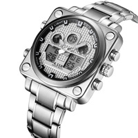 6.11 Square Business Watch Men Stainless Steel Waterproof Led Quartz Sport Watch Men Gold Clock Male relogio masculino relojes
