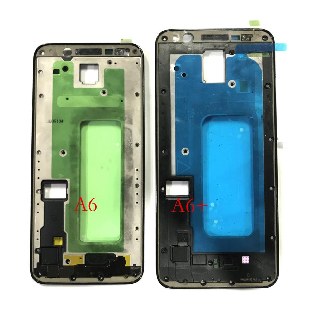Original New Front Panel Bezel Frame Faceplate Housing Replacement For Samsung Galaxy A6 2018 A6+ Plus A600F A605F A600DS A605DS