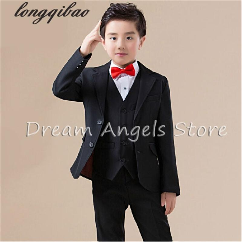 все цены на 2017 new arrival fashion baby boys kids blazers boy suit for weddings prom formal spring autumn black dress wedding boy suits онлайн