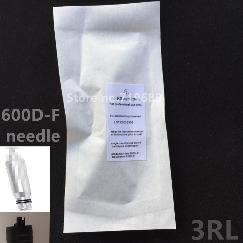 Free Shipping 50pcs 600D F NEWEST 3RL Sterilized Permanent Makeup Needles Tattoo Needles for Tattoo Makeup