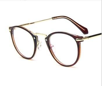 217eca834e Los nuevos hombres de la moda de las mujeres gafas de lectura de plástico  lleno-borde redondo marco de lectura gafas de + 100 + 150 + 200 + 250 + 300  + 350 ...