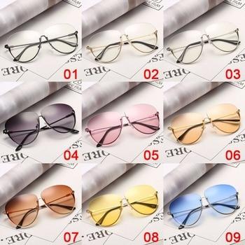 Rimless Cat Eye Women Sunglasses Transparent Fashion Brand Designer Sunglasses Lady Clearly Large Metal Frame UV400 6