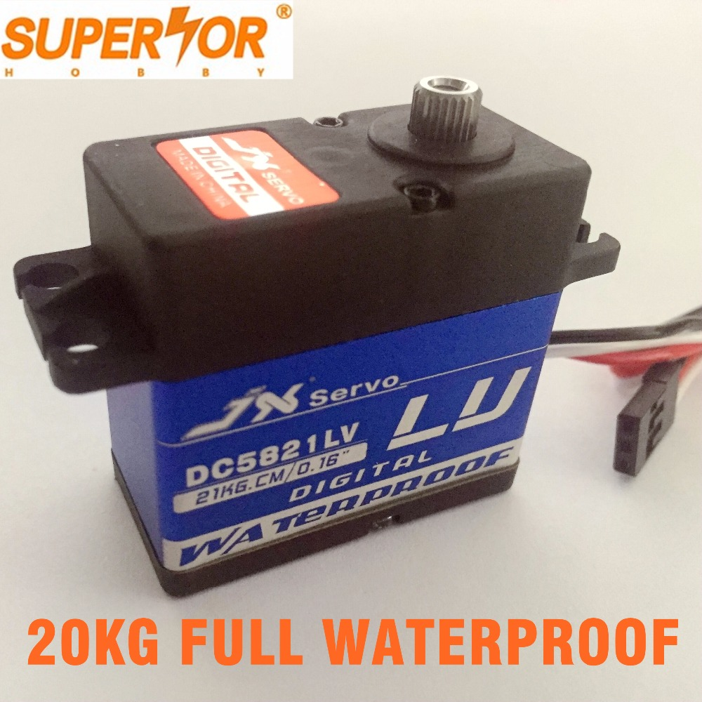 Superior Hobby JX DC5821LV 20KG Full waterproof mental gear servo for 1:8 1:10 Scaler Buggy Crawler TRX-4 SCX10 D90 RC car superior hobby jx pdi 6221mg 20kg high precision metal gear digital coreless standard servo for rc model plane car