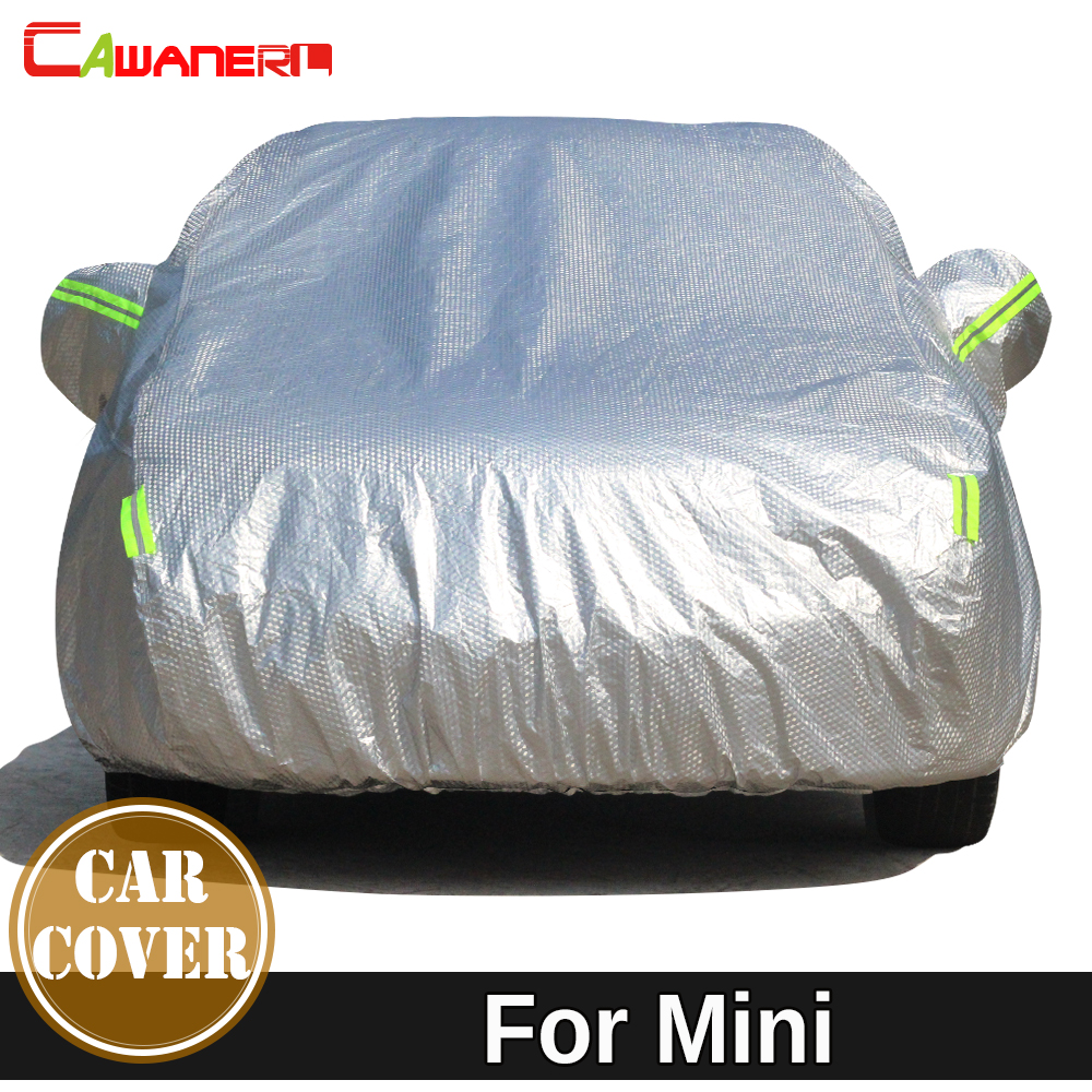 Cawanerl Thicken Cotton Car Cover Anti UV Sun Snow Hail Rain Protect Cover For Mini Clubman Countryman One Cooper Coupe Roadster