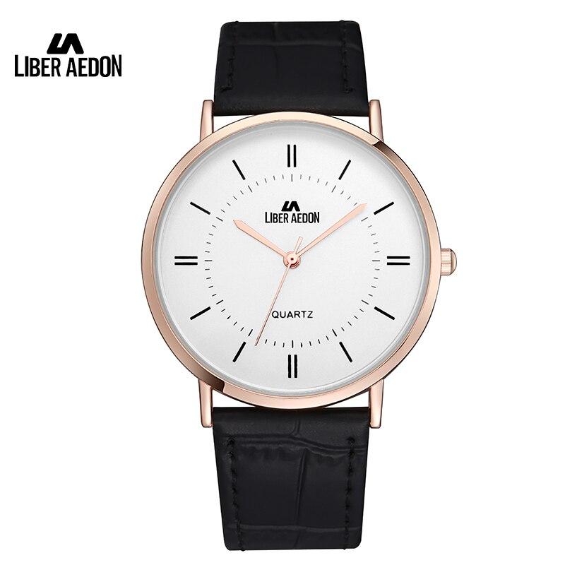 где купить Liber Aedon Fashion Leather Strap Lover Watch Lover's Classic Casual Quartz Wristwatch Brand Top Luxury Lover Watch по лучшей цене