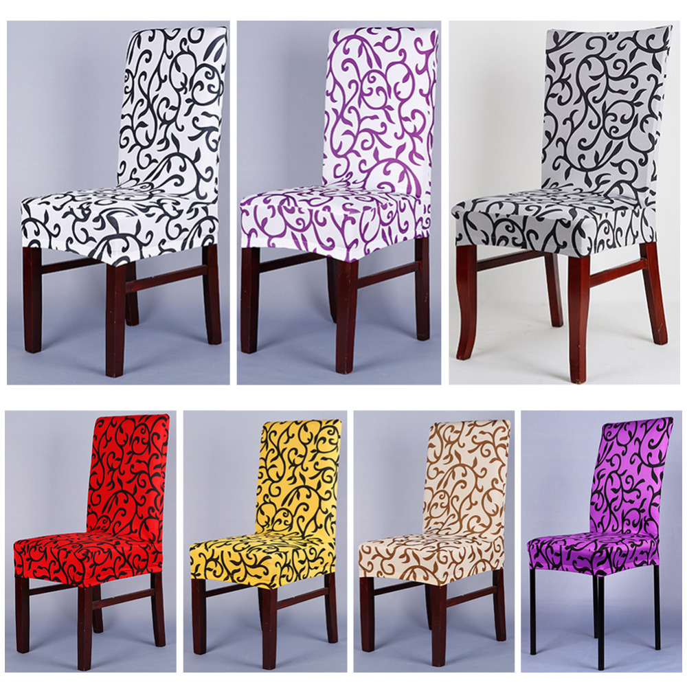 Thickening spandex stretch dining chair cover washable for Chaise restaurant