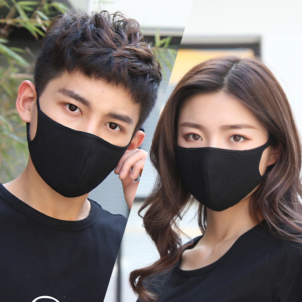 2018 Mask Women Cotton Autumn New Fashion Dust-proof Breathable Black Men Personality Korean Washable And Easy To Breathe Mask