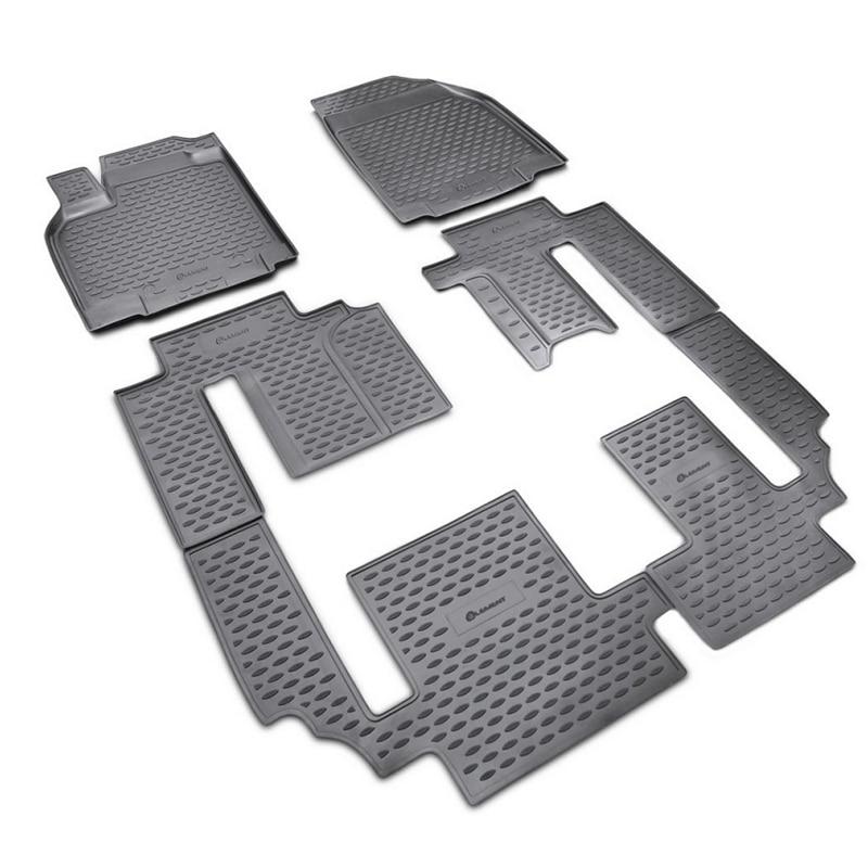 Carpet mats interior For MAZDA CX-9 2007-2012, 2012-2015 6 PCs (polyurethane)