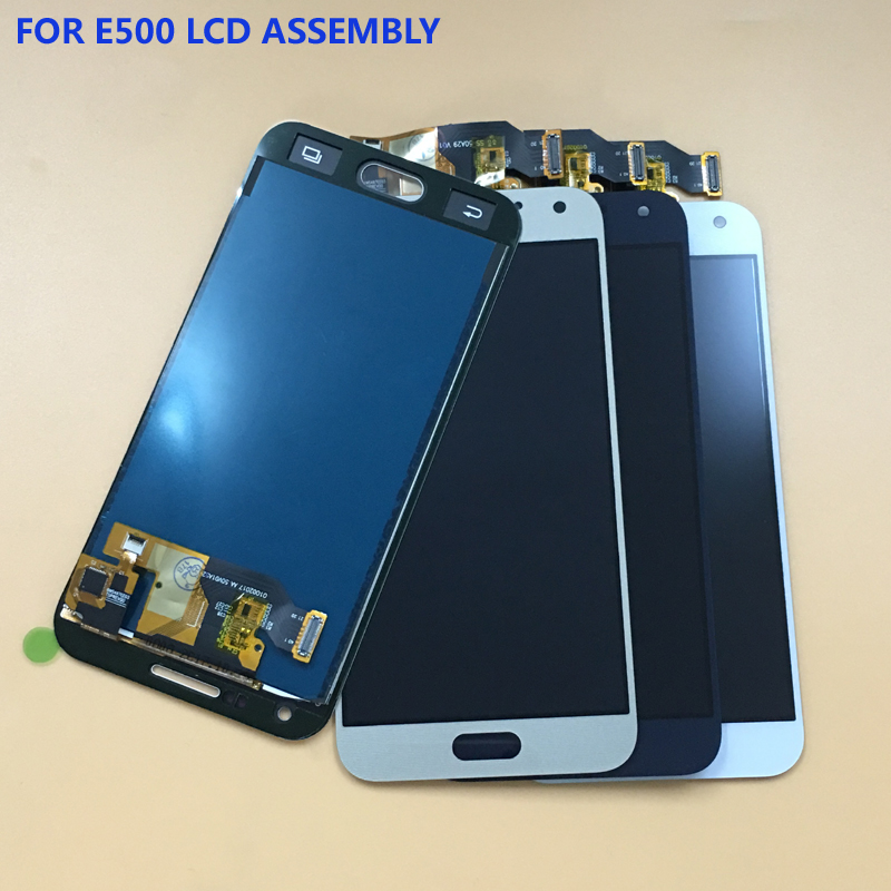 For Samsung Galaxy E5 E5000 E500 E500F Touch Screen Digitizer Sensor Panel Glass + LCD Display Monitor Screen Panel Assembly