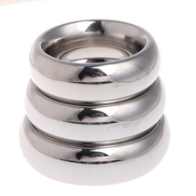 Stainless Steel Cock Ring Male Penis Enhancer Delay Ejaculation 40mm New Arrival